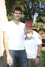 Courtesy of Lisa J. Church LGBT activist Zach Wahls with one of his two moms, Jackie Reger. Wahls was the featured speaker at the Moab Pride Festival on Saturday.