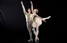 Courtesy photo Ballet West Principal Artist Christiana Bennett and Soloist Beau Pearson in George Balanchine's