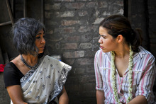 Courtesy photo New Light founder and director Urmi Basu with America Ferrera in Khaligat, India.