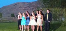 Several students were turned away from a homecoming dance at Stansbury High after their dresses were deemed inappropriate because they were too short. Some students turned away from the dance are pictured in this photo. Courtesy photo