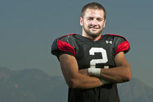 Chris Detrick  |  The Salt Lake Tribune Utah Utes safety Brian Blechen poses for a portrait after a practice Tuesday, Sept. 18, 2012.