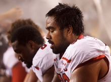 Trent Nelson  |  The Salt Lake Tribune Utah defensive tackle Star Lotulelei (92) on the bench in the first half as Arizona State runs up a large lead as the University of Utah faces Arizona State, college football in Tempe, Arizona, Saturday, September 22, 2012.