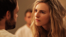 Brit Marling plays a spiritual guru who claims to be from the future, in the drama