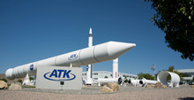 Trent Nelson     The Salt Lake Tribune ATK and NASA spoke of savings made in manufacturing the solid rocket boosters for NASA's Space Launch System (SLS) Tuesday October 2, 2012 in Promontory, Utah.