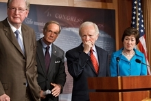 Associated Press file photo Sens. Jay Rockefeller, D-W.Va., Sen. Tom Carper, D-Del., Joseph Lieberman, I-Conn., and Susan Collins, R-Maine, shown in July in Washington, were the driving forces behind the creation of the Homeland Security Department and the fusion centers, intended to spot terrorism trends in every state.