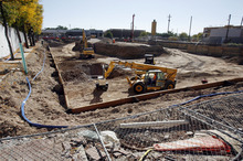 Francisco Kjolseth  |  The Salt Lake Tribune The empty hole on the corner of 1100 East and 2100 South in Sugar House finally sees some activity. The American Planning Association announced Wednesday that the Fairmont-Sugar House area is among the