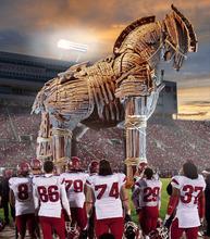 Francisco Kjolseth  |  The Salt Lake Tribune The University of Utah takes on powerhouse USC this week at Rice Eccles Stadium as the Trojans roll into town.  Photo illustration by Francisco Kjolseth