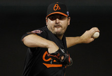 Tony Gutierrez   The Associated Press Baltimore starting pitcher Joe Saunders pitched six effective innings en route to his first-ever victory at The Ballpark.