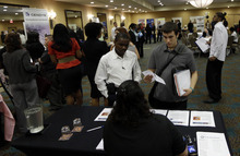 (AP Photo/Lynne Sladky) The Labor Department said employers added 114,000 jobs numbers in September and that the unemployment rate fell three-tenths of a percentage point.