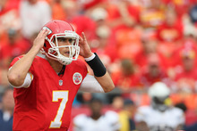Colin E Braley  |  The Associated Press Maybe if Chiefs quarterback Matt Cassel focuses on taking care of the ball, he'll only throw two picks.