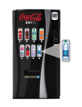 This undated image provided by Coca-Cola shows a new soda vending machine the company announced Monday, Oct. 8, 2012, that they plan to roll out. The new vending machines are a response to the intensifying criticism over sugary sodas and will let customers see the calorie counts on selection buttons, and will urge consumers to choose less sugary alternatives with messages such as