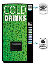 This undated image provided by the American Beverage Association shows a new soda vending machine. Coca-Cola, PepsiCo and Dr Pepper announced Monday, Oct. 8, 2012, that they'll roll out new vending machines as a response to the intensifying criticism over sugary sodas.  The machines will let customers see the calorie counts on selection buttons, and will urge consumers to choose less sugary alternatives with messages such as