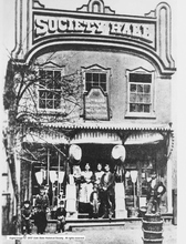 Photo Courtesy Utah Historical Society  Salt Lake City Fifteenth Ward Relief Society Hall at 340 West 100 South.