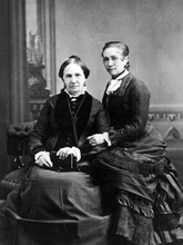 Photo Courtesy Utah Historical Society  Zina Diantha Huntington Jacobs Smith Young (left) with Zina Card Young. Zina D.H. Young was an American social activist and religious leader who served as the third general president of the Relief Society of the LDS Church from 1888 until her death in 1901. She was a polygamous wife of both Joseph Smith and later Brigham Young, each of whom she married while she was still married to her first husband, Henry Jacobs.