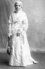 Photo Courtesy Utah Historical Society  Emmeline Blanche Woodward Harris Whitney Wells (February 29, 1828 – April 25, 1921) was an American journalist, editor, poet, women's rights advocate and diarist. She served as the fifth general president of the Relief Society of The Church of Jesus Christ of Latter-day Saints  from 1910 until her death.