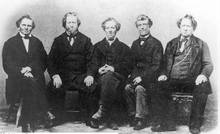 Left to right, Brigham Young and his brothers Lorenzo, Phineas, Joseph and John. Courtesy Utah Historical Society