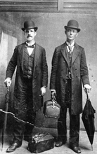 Photo Courtesy Utah Historical Society  Early Mormon missionaries in Mississippi, 1897.