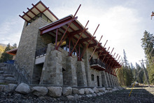 Francisco Kjolseth  |  The Salt Lake Tribune The Unified Fire Authority opens its new fire station in Big Cottonwood Canyon on Tuesday, Oct. 9, 2012, just below Brighton Resort and the start of Guardsman Pass.