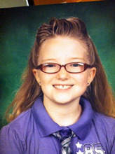 This image provided by the Westminster Colorado Police Department shows 10-year-old Jessica Ridgeway. Police in Westminster are looking for a 10-year-old girl who was last seen walking to school. Jessica Ridgeway normally meets a friend at a park on her way to Witt Elementary School, but she didn't make it to the park or school Friday Oct. 5, 2012. An Amber Alert has been issued. (AP Photo/Westminster Colorado Police Department)