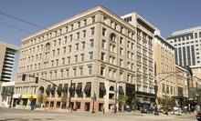 Paul Fraughton | The Salt Lake Tribune The Crandall Building on the corner of 100 South and Main Street in Salt Lake City.   Thursday, October 4, 2012