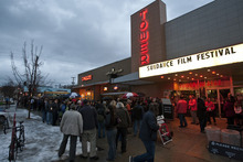 Chris Detrick  |  The Salt Lake Tribune Filmgoers wait outside of Tower Theatre in Salt Lake City before the screening of