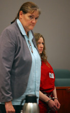 Stephanie Sloop, who is charged with capital murder in connection with the death of her son, Ethan Stacy, attends a court hearing Tuesday, August 14, 2012, at 2nd District Court in Farmington. (NICK SHORT/Standard-Examiner)
