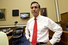 House Oversight Committee Chairman Darrell Issa, R-Calif., arrives for a hearing on the attack on the American consulate in Benghazi, Libya that resulted in the death of U.S. Ambassador Christopher Stevens, on Capitol Hill in Washington, Wednesday, Oct. 10, 2012. (AP Photo/J. Scott Applewhite)