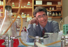Dr. Robert Lefkowitz of Duke University photographed in his lab on campus in Durham, N.C. in 1996.  Lefkowitz along with American Brian Kobilka have won the 2012 Nobel Prize in chemistry it was announced early Wednesday morning Oct. 10, 2012. The Royal Swedish Academy of Sciences cited the two researchers Wednesday