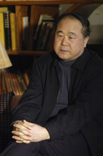 In this photo taken Tuesday Dec. 27, 2005, Chinese writer Mo Yan listens during an interview in Beijing. Mo won the Nobel Prize in literature on Thursday, Oct. 11, 2012. (AP Photo)