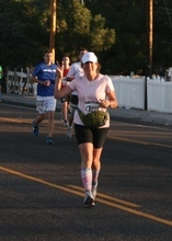 Ann Cannon runs through Veyo, approximately 7 miles into the St. George Marathon, on Saturday, Oct. 6.