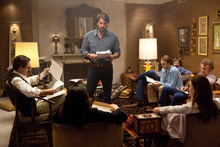 This film image released by Warner Bros. Pictures shows Ben Affleck as Tony Mendez, center, in