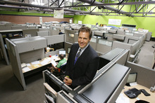 Francisco Kjolseth  |  The Salt Lake Tribune Chet Linton is CEO and president of School Improvement Network of Midvale, whose offices are in a remodeled former bowling alley and a former Safeway next door. The company supplies online and on demand videos and other materials to help teachers improve their performance in the classroom.