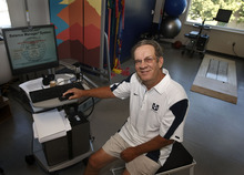 Leah Hogsten  |  The Salt Lake Tribune Utah State University has been a pioneer in treating and preventing concussions for more than a decade and Dale Mildenberger, head athletics trainer, is largely responsible for the approach.