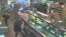 The car of Belgium soccer player Jonanthan Legear  who plays for  Russian soccer team Terek Grozny  crashes through a  gas station convenience store injuring one customer in Tongeren Belgium Sunday Oct. 7, 2012 in this image taken from CCTV . Court spokesman Michel Zegers said Monday Oct. 8. 2012  that the former Belgian international would be charged with involuntary assault and, possibly, intoxication.  He said there was no reason to prevent him from flying back to Russia and rejoin Grozny.  (AP Photo/VTM via APTN)