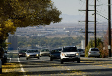 Kim Raff  |  The Salt Lake Tribune Traffic travels east on Sunnyside Avenue in Salt Lake City on Sunday, October 14, 2012. In January, Mayor Ralph Becker, as part of his