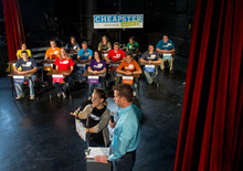 Trent Nelson  |  The Salt Lake Tribune Thirteen college students from Utah and Idaho competed Tuesday at the Murray Theater for a $10,000 prize for themselves and $10,000 for their school.