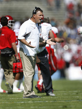 Scott Sommerdorf  |  The Salt Lake Tribune              Utah head coach Kyle Whittingham yells at Eric Rowe after the defensive back gave up a long touchdown catch against UCLA on Oct. 13, 2012. UCLA defeated Utah 21-14 in Pasadena.