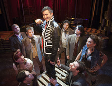 Steve Griffin | The Salt Lake Tribune J.C. Ernst and the cast of the rock musical about U.S. president Andrew Jackson. In 1830, opponents referred to candidate Jackson so often as