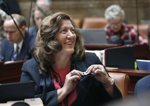 Scott Sommerdorf  l  Tribune file photo Former Rep. Holly Richardson, R-Pleasant Grove, was confirmed by the Senate Wednesday as the newest member of the State Records Committee. The one-time supporter of HB477 was confirmed without a public hearing despite a request from the progressive Alliance for a Better Utah.