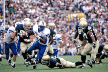 BYU running back Jamal Willis in action against Notre Dame on Oct. 15, 1994. The Cougars won 21-14 in South Bend in front of 59,075 Irish fans.   Photo courtesy of Mark A. Philbrick  |  BYU