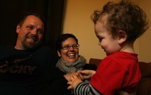 Leah Hogsten  |  The Salt Lake Tribune Beverly Brehl holds her son Jack, who is nearly two years old. She has metastatic breast cancer, which is incurable and has an average life expectancy of 2 years past diagnosis.