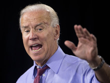 Vice President Joe Biden speaks during a campaign rally at the Culinary Academy Events Center, Thursday, Oct. 18, 2012, in Las Vegas. Biden, on Thursday, derided the campaigns of Republican challenger Mitt Romney and vice presidential candidate Paul Ryan as being built on negative views of
