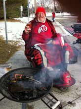 Courtesy Derk Wharton Mike Murry was known for his tailgating and for leading cheers during Ute football games.