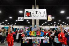 Trent Nelson  |  The Salt Lake Tribune The Utah Education Association (UEA) convention began Thursday October 18, 2012 in Sandy, Utah.