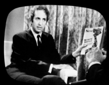 FILE - In this June 23, 1971, file photo, Daniel Ellsberg, holds a copy of Newsweek on CBS television program. Newsweek announced Thursday, Oct. 18, 2012 that it will end its print publication after 80 years and shift to an all-digital format in early 2013. Its last U.S. print edition will be its Dec. 31 issue. The paper version of Newsweek is the latest casualty of a changing world where readers get more of their information from websites, tablets and smartphones. It's also an environment in which advertisers are looking for less expensive alternatives online. (AP Photo/CBS, File)