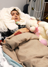 In this undated image released by the University Hospitals Birmingham NHS Foundation Trust, on Friday Oct. 19, 2012, showing 15-year old Pakistani shooting victim Malala Yousufzai, who is recovering in Queen Elizabeth Hospital in Birmingham, England, after being shot in the head by Taliban gunmen in Pakistan for advocating education for girls. Malala was shot and critically wounded on Oct. 9 as she headed home from school in the northwest Swat Valley, Pakistan, and was evacuated to Birmingham for ongoing treatment, where she is reported to be improving. (AP Photo / University Hospitals Birmingham NHS Foundation Trust)