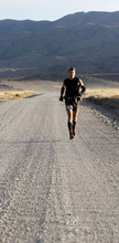 Al Hartmann  |  The Salt Lake Tribune A runner appears of insignificant size to the surrounding mountains and valleys in the Pony Express Trail 100 Endurance Run. Some 75 entrants and their support teams will run the 50-mile course or the 100-mile course along the historic Pony Express route in the west desert areas of Tooele and Juab counties.