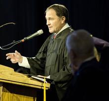 Lennie Mahler  |  The Salt Lake Tribune Utah Gov. Gary Herbert speaks during the inauguration of the college's new president, Dr. Brian Levin-Stankevich, Saturday, Oct. 20, 2012, at Westminster College in Salt Lake City, Utah.