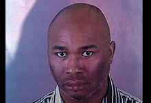 This photo provided by the Brookfield Police Dept. shows Radcliffe Franklin Haughton, 45, of Brown Deer, Wis. Deputies are searching for Haughton on Sunday, Oct. 21, 2012, who's suspected of wounding multiple people in a shooting at a spa near a suburban Milwaukee shopping mall. (AP Photo/Brookfield Police Dept)