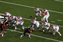 Chris Detrick  |  The Salt Lake Tribune Utah Utes quarterback Travis Wilson (7) takes a snap during the second half of the game at Reser Stadium Saturday October 20, 2012. Oregon State won the game 21-7.